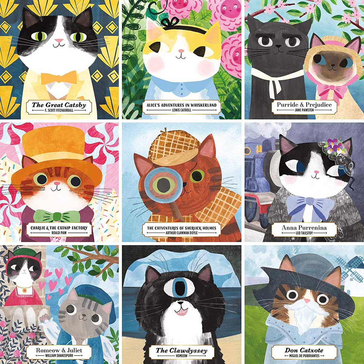 Bookish Cats Cats Jigsaw Puzzle