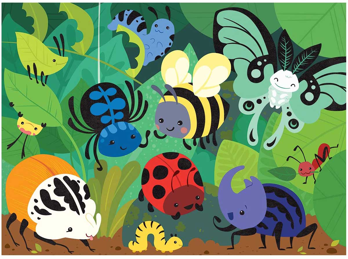 Beetles & Bugs Butterflies and Insects Jigsaw Puzzle