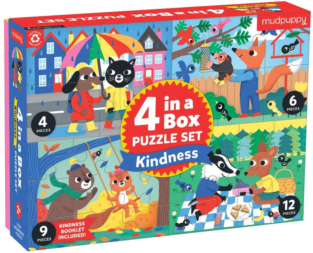 Kindness 4-in-a-Box Puzzle Set Animals Jigsaw Puzzle