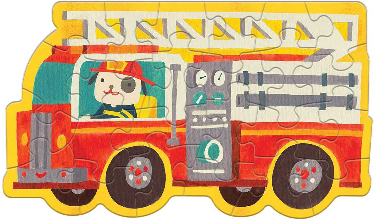 Firetruck Vehicles Shaped Puzzle