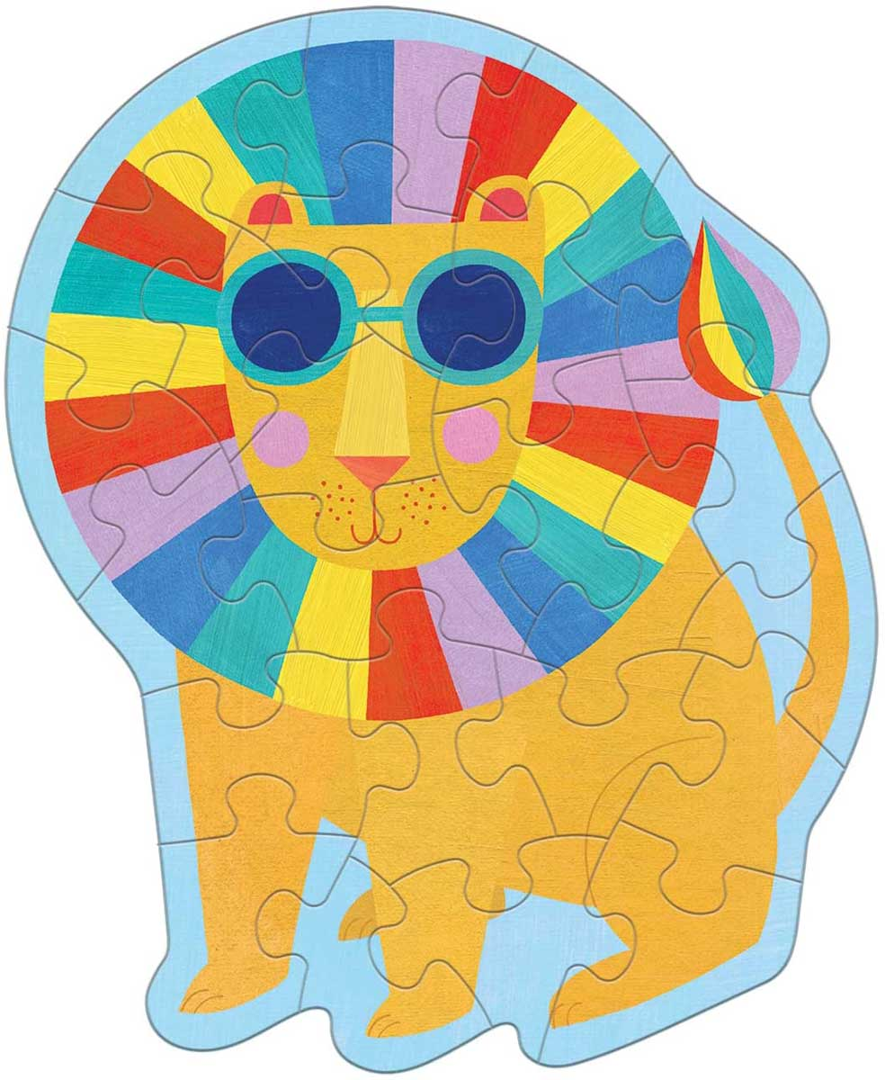 Rainbow Lion Lions Shaped Puzzle