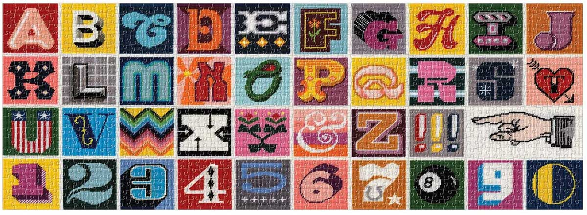 Needlepoint A to Z Crafts & Textile Arts Jigsaw Puzzle