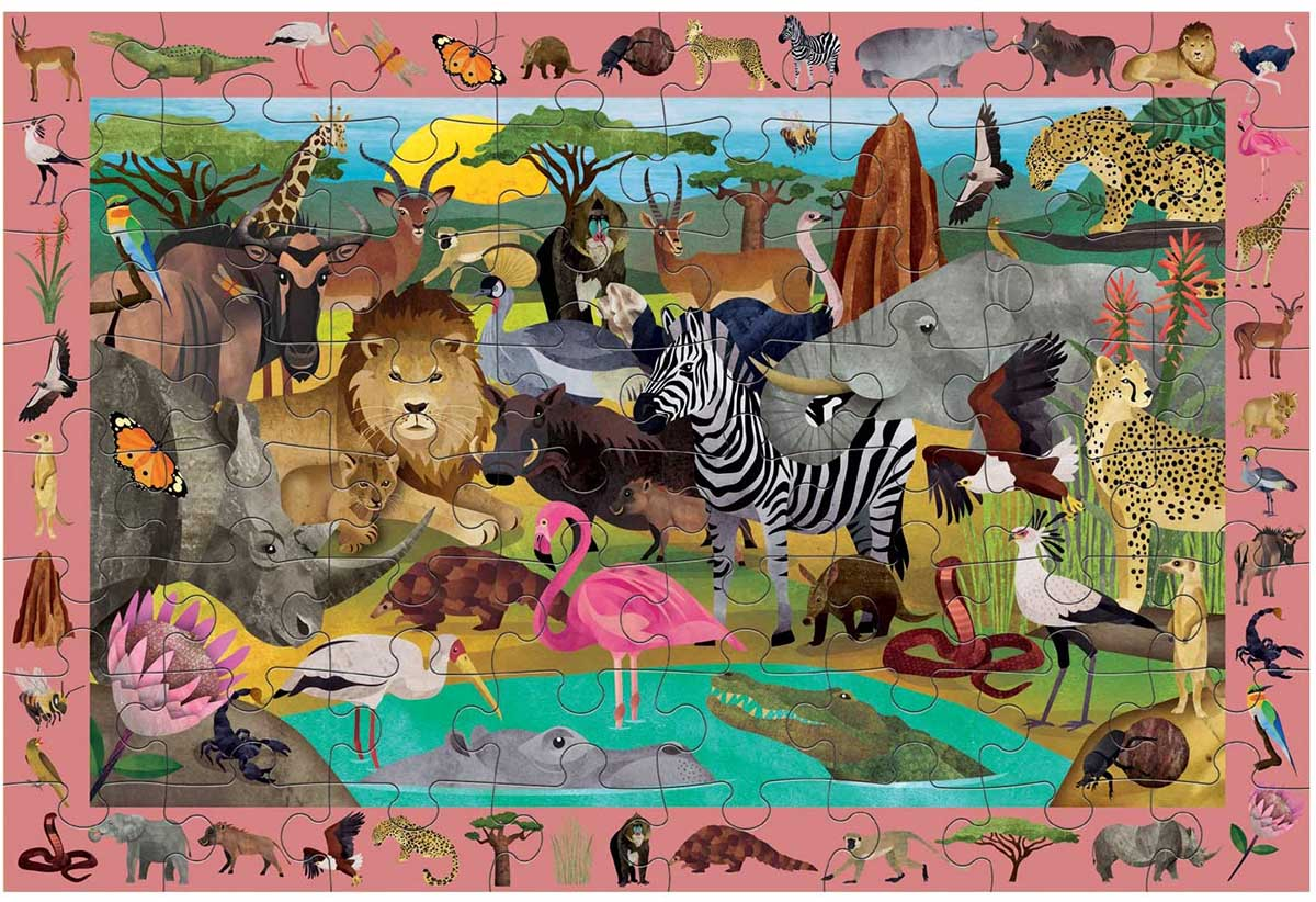 African Safari Animals Hidden Images