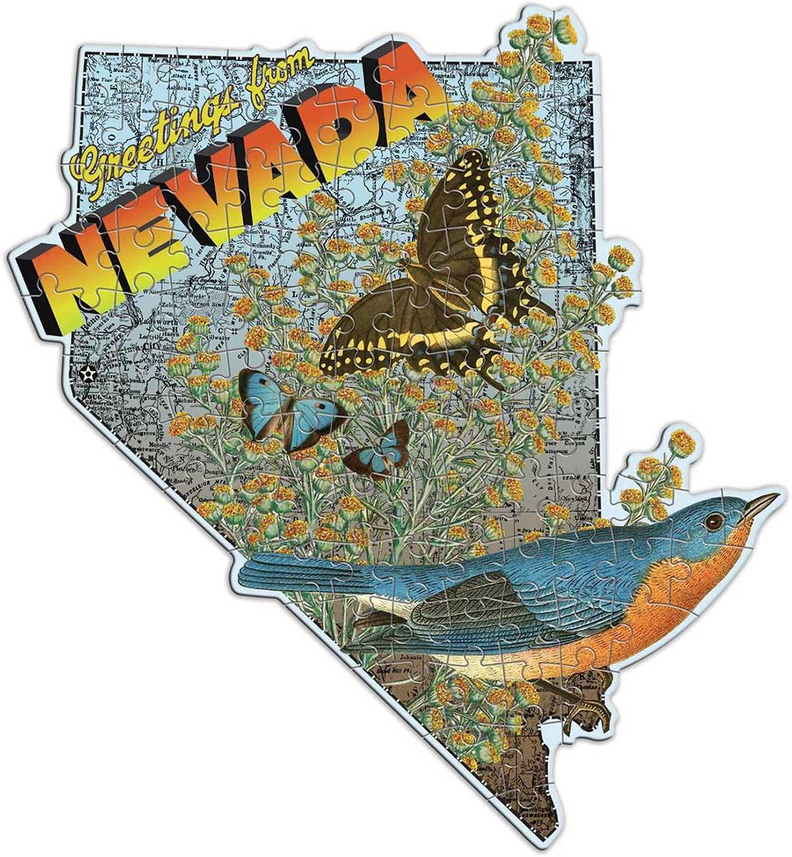 Wendy Gold Nevada Birds Shaped Puzzle
