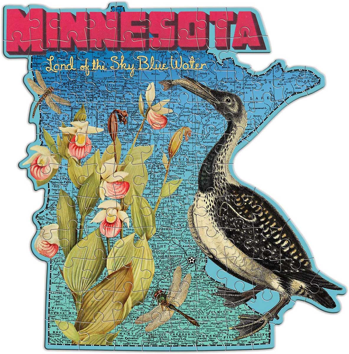 Wendy Gold Minnesota Birds Shaped Puzzle