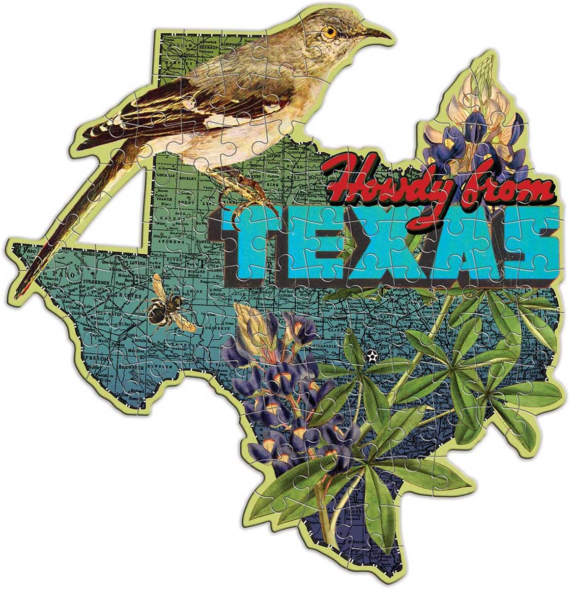 Wendy Gold Texas Birds Shaped Puzzle