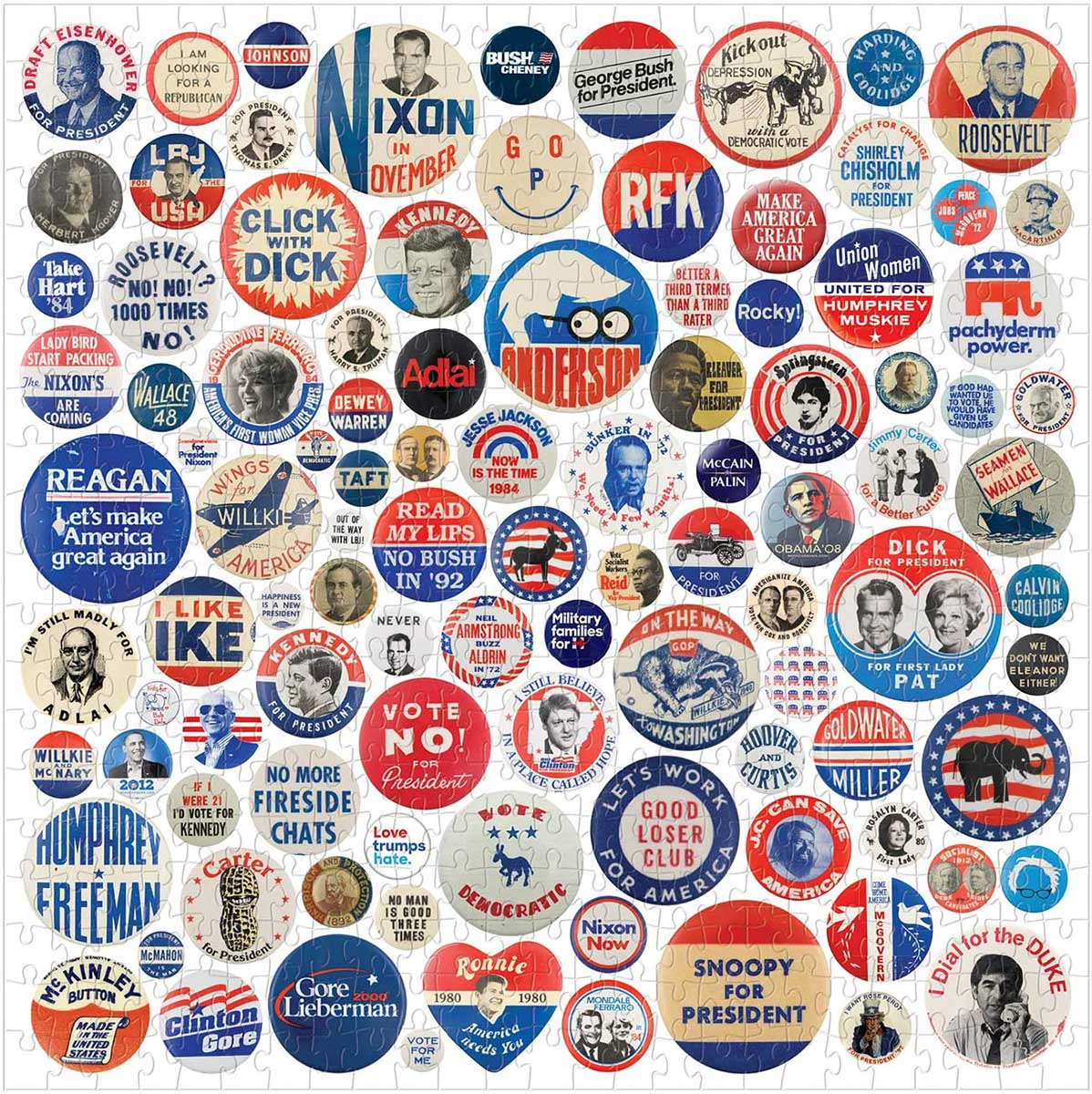Button Up America Nostalgic / Retro Jigsaw Puzzle