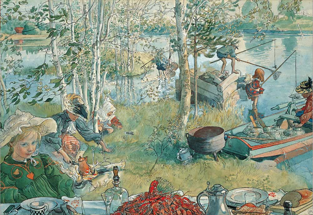 Crayfishing People Jigsaw Puzzle