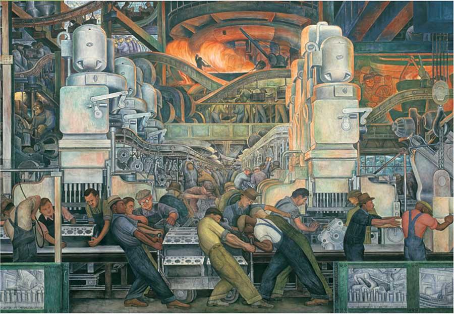 Detroit Industry Fine Art Jigsaw Puzzle