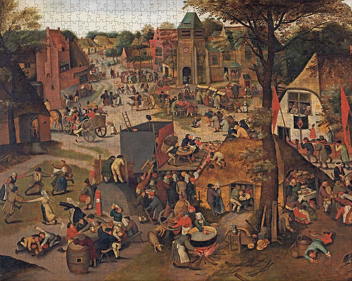 A Village Festival Fine Art Jigsaw Puzzle