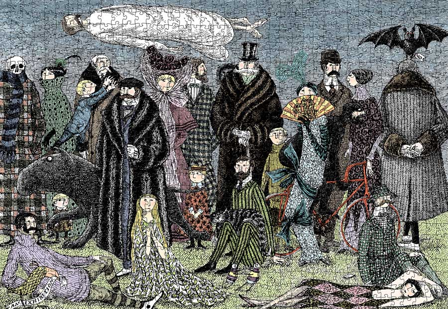 Edward Gorey - Untitled Fine Art Jigsaw Puzzle