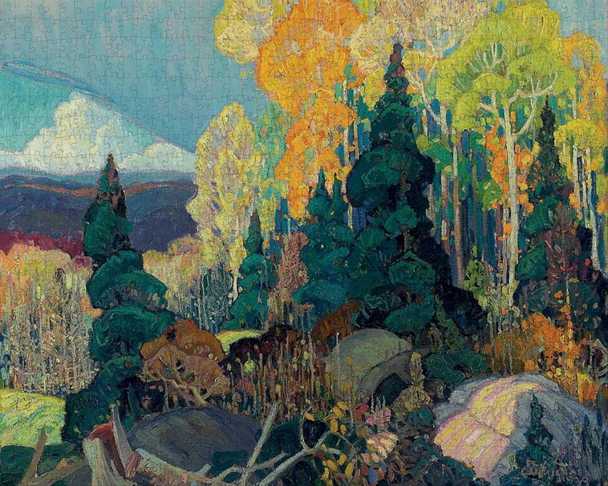 Autumn Hillside Fall Jigsaw Puzzle