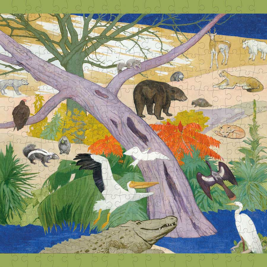 Birds And Animals Of The United States Animals Jigsaw Puzzle