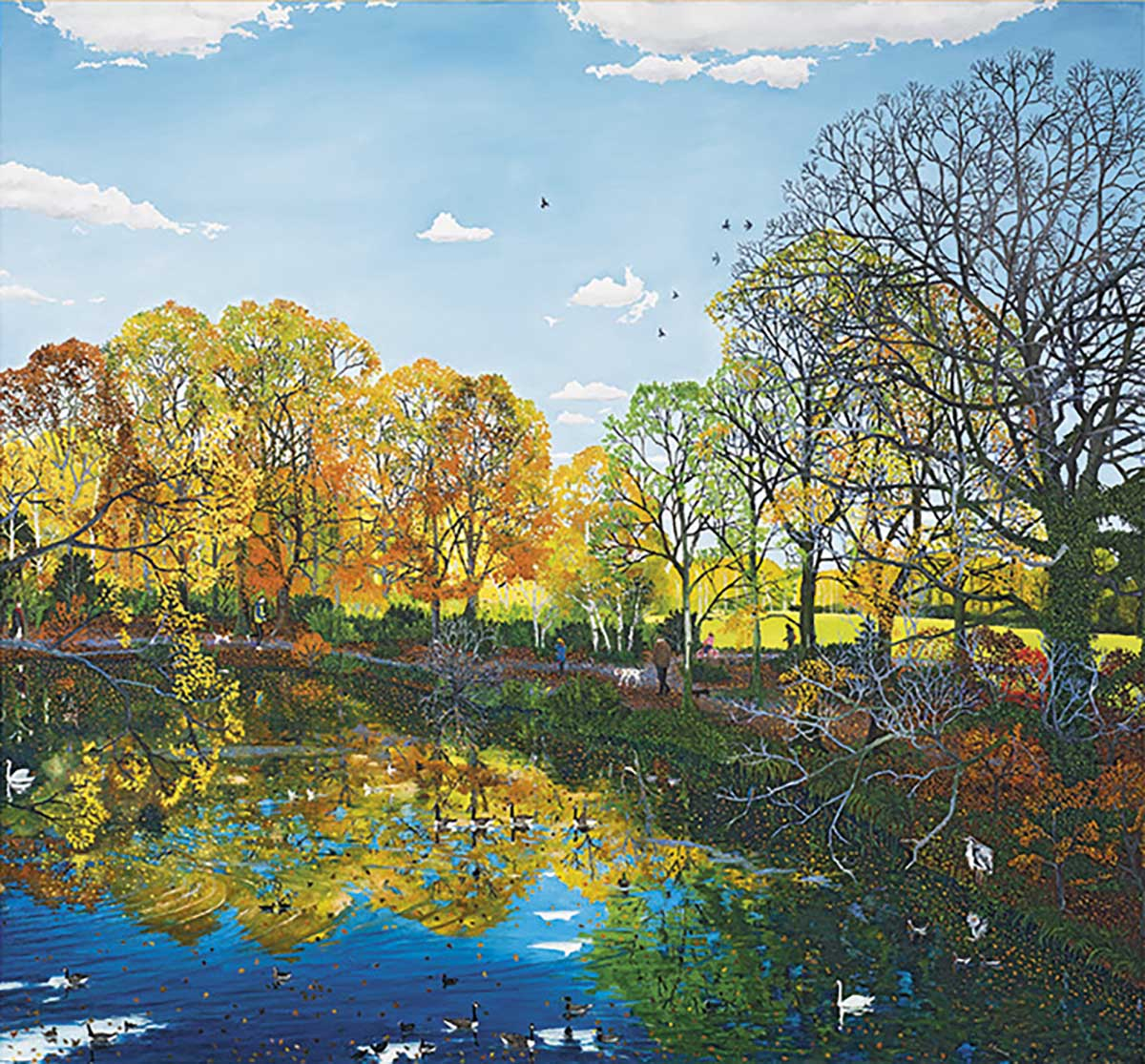 Autumn Reflections Birds Jigsaw Puzzle