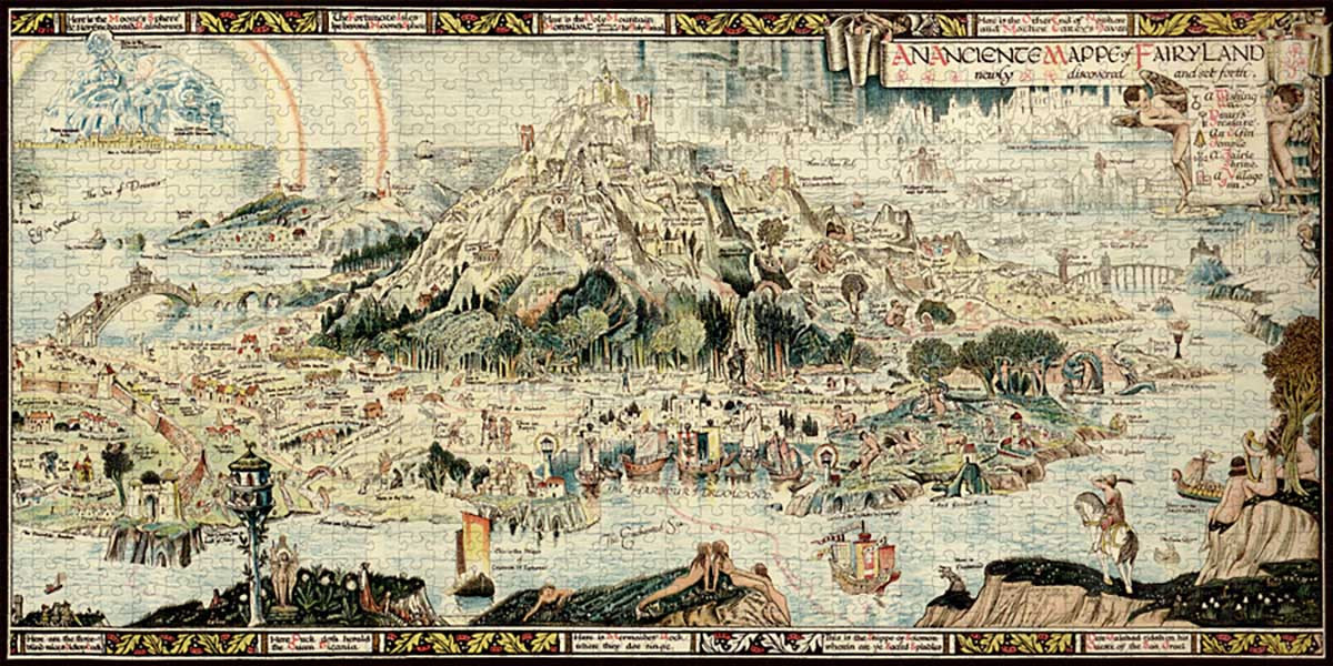 An Anciente Mappe of Fairyland Maps / Geography Jigsaw Puzzle