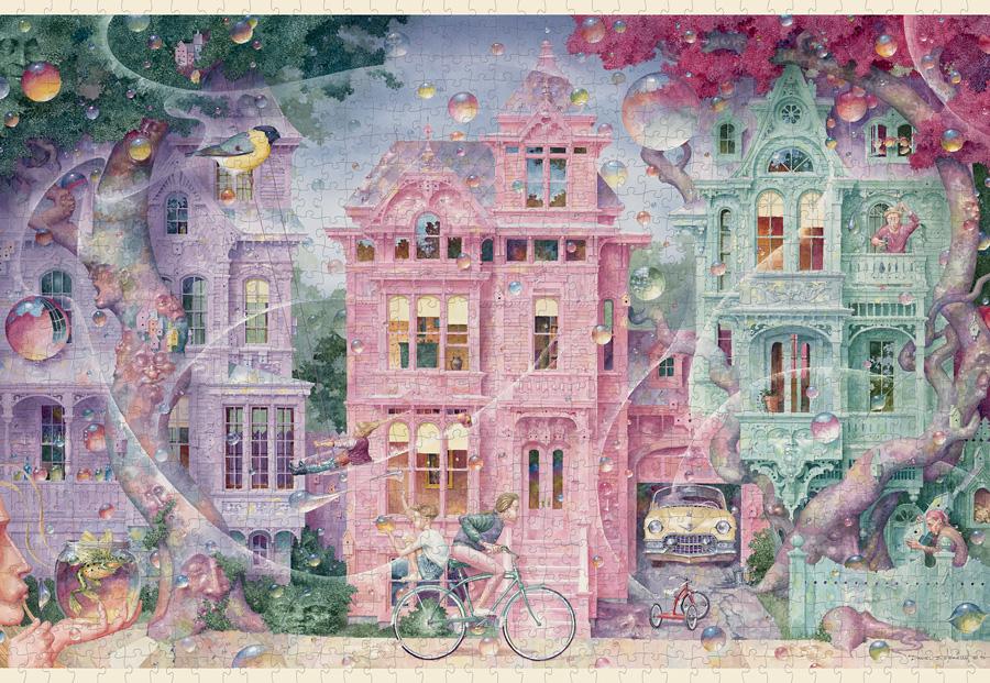 Bubble Street Fantasy Jigsaw Puzzle