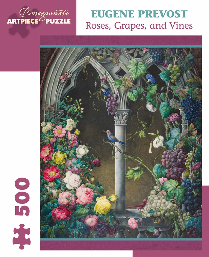 Roses, Grapes, Vines Garden Jigsaw Puzzle