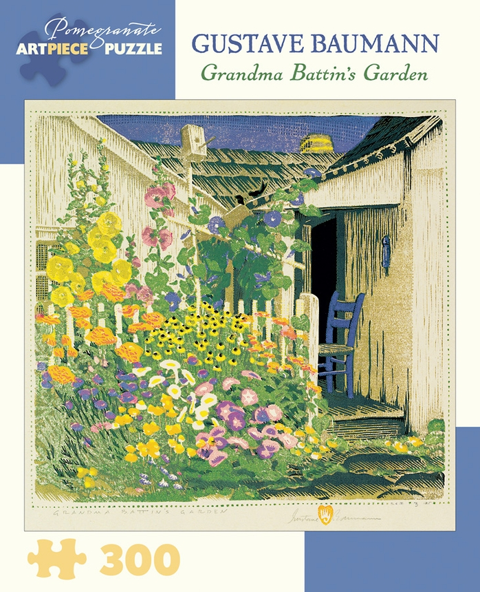 Grandma Battin's Garden Flowers Jigsaw Puzzle