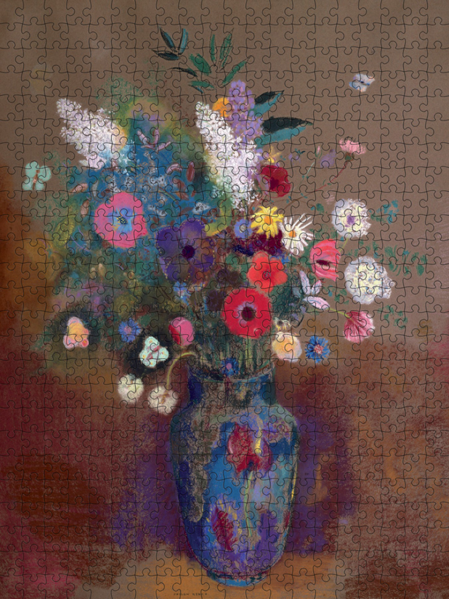Bouquet of Flowers Fine Art Jigsaw Puzzle