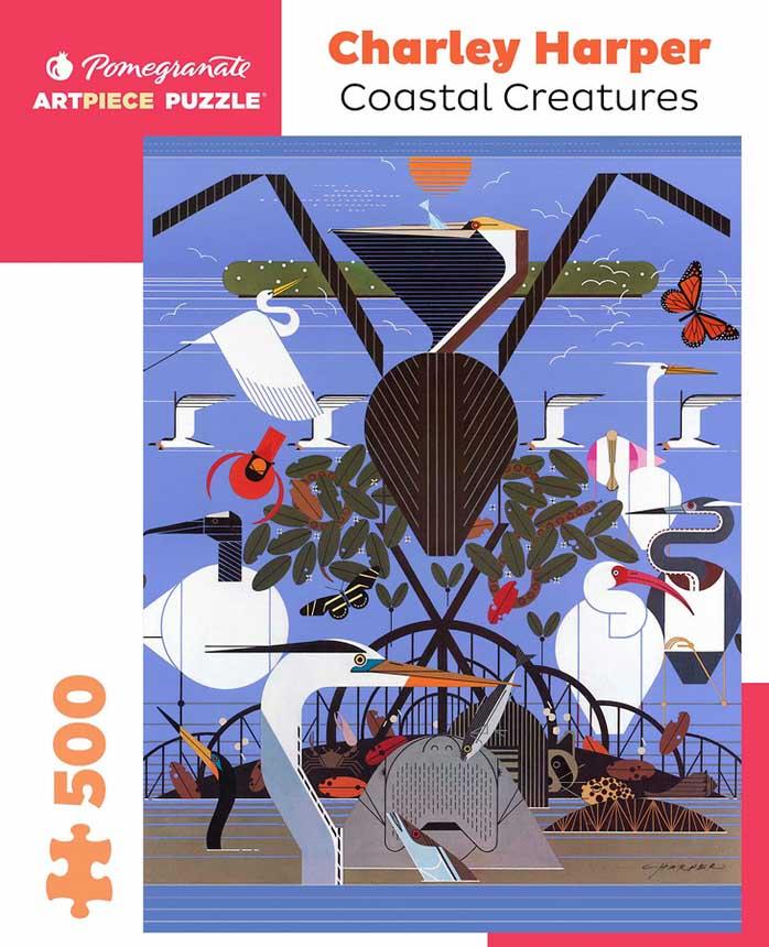 Coastal Creatures Seascape / Coastal Living Jigsaw Puzzle