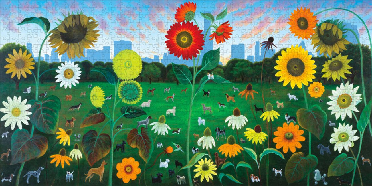 Sunset Dog's Dream Skyline / Cityscape Jigsaw Puzzle