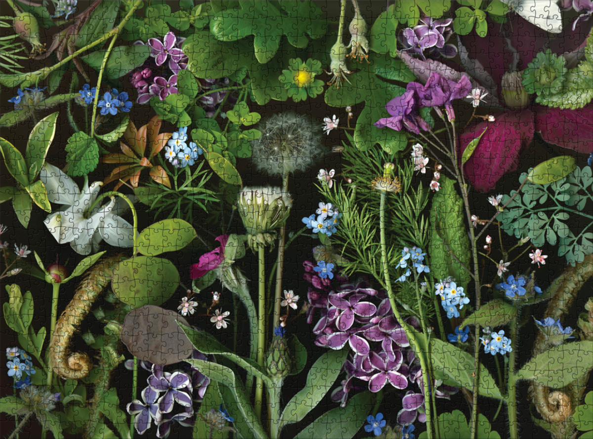 Siri's Lilac Butterflies and Insects Jigsaw Puzzle