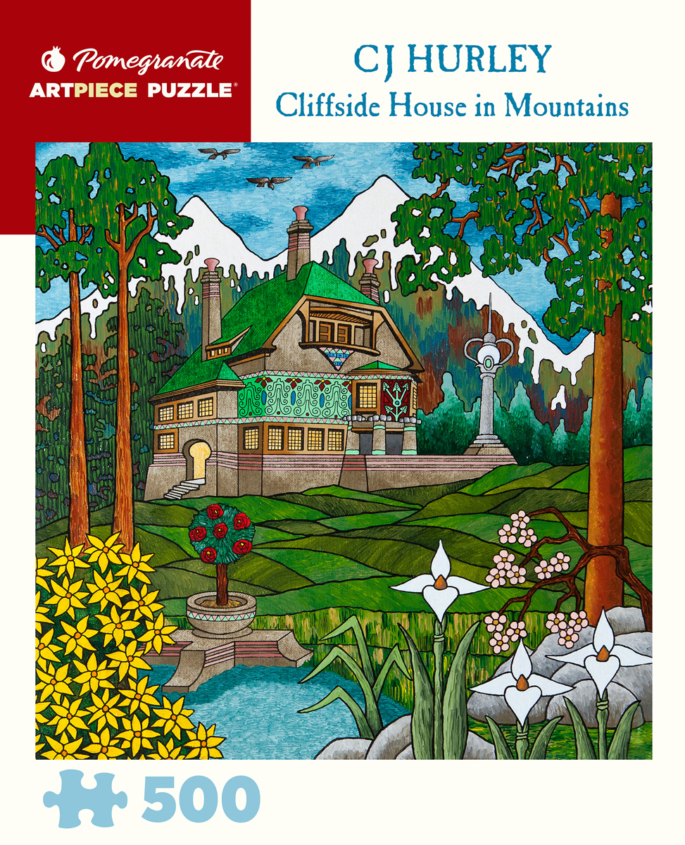 Cliffside House Mountains Jigsaw Puzzle
