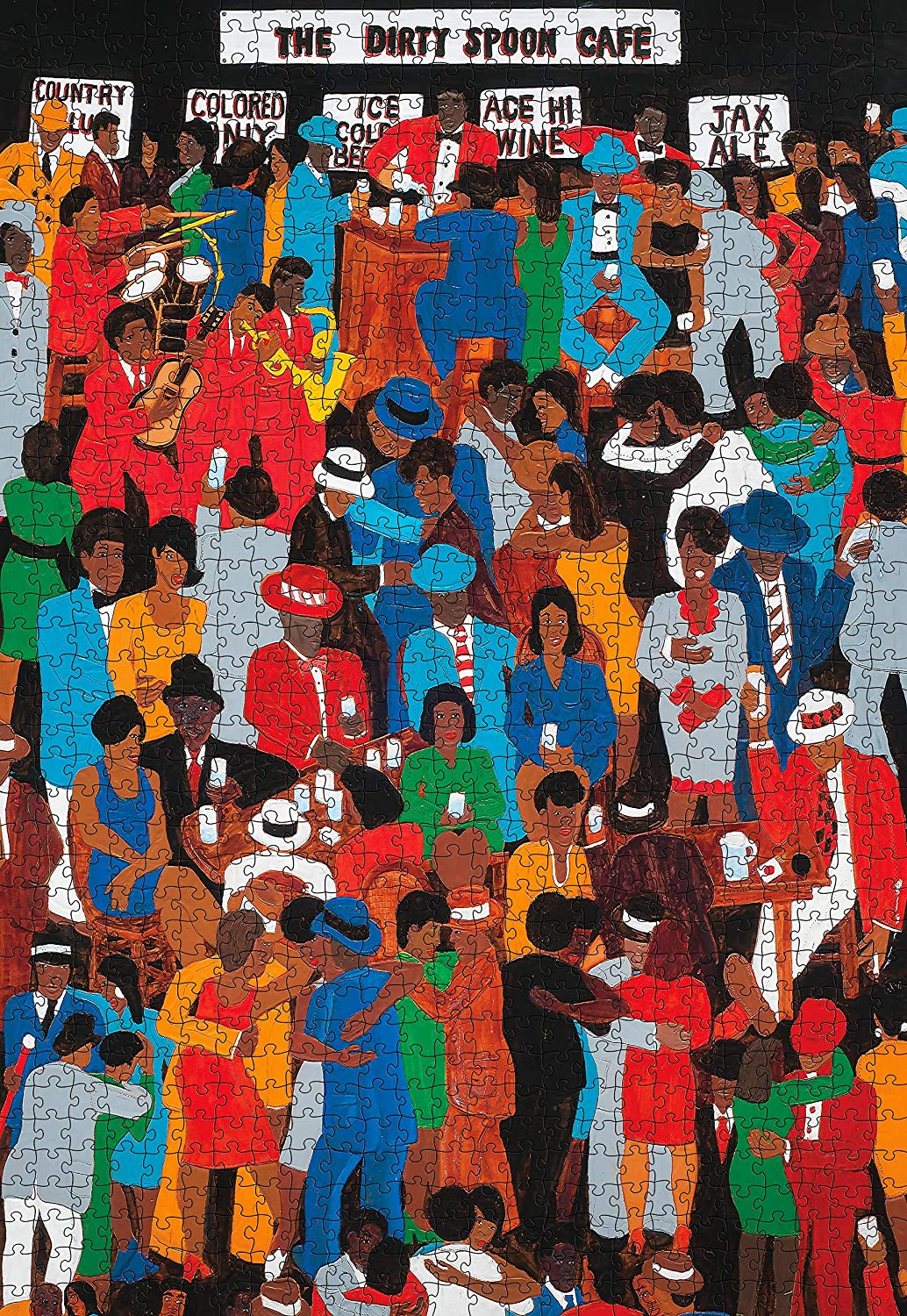 The Dirty Spoon Cafe People Jigsaw Puzzle