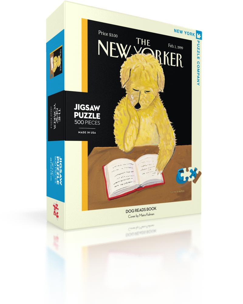 Dog Reads Book (The New Yorker) Dogs Jigsaw Puzzle