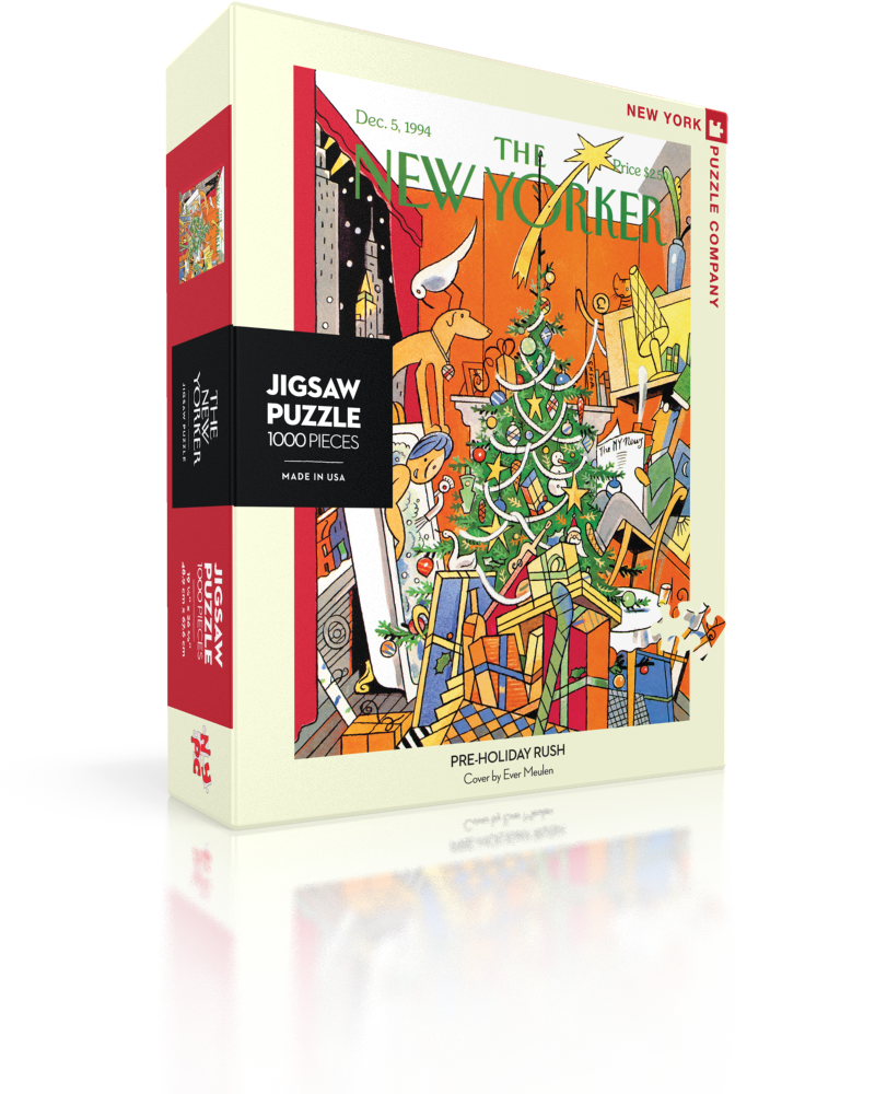 Pre-Holiday Rush (The New Yorker) Nostalgic / Retro Jigsaw Puzzle