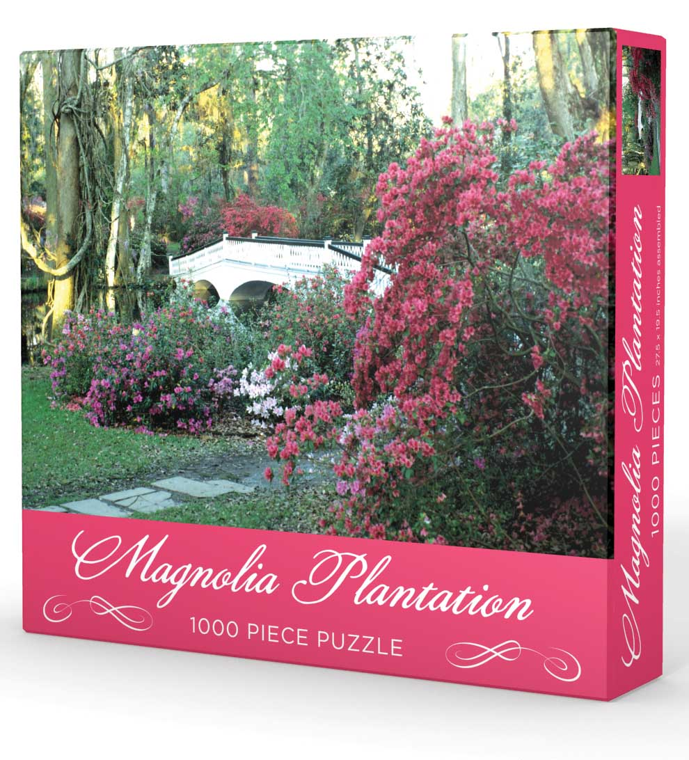 Magnolia Plantation Flowers Jigsaw Puzzle
