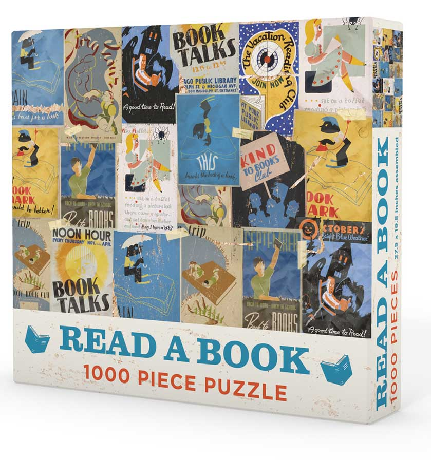 Read a Book Graphics / Illustration Jigsaw Puzzle