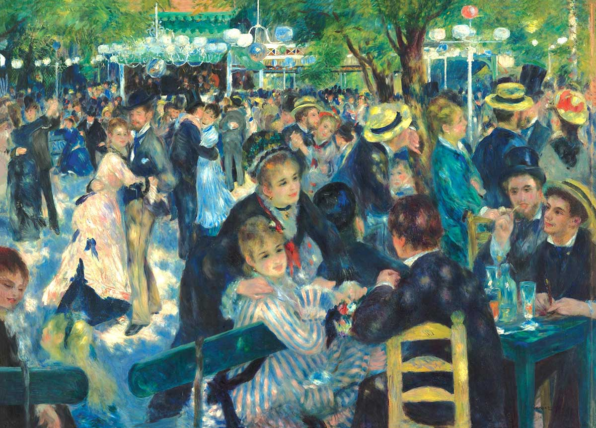 Dance at Le Moulin de la Galette Fine Art Jigsaw Puzzle