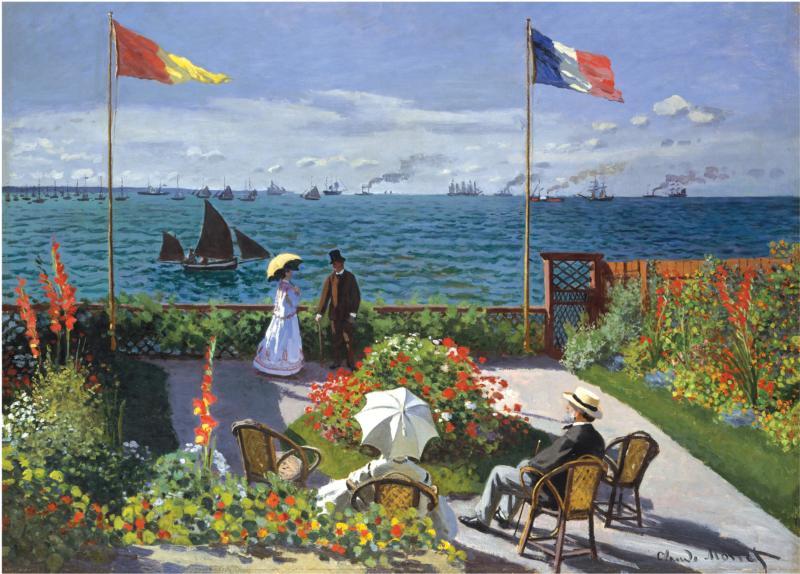 Garden at Sainte-Adresse Fine Art Jigsaw Puzzle
