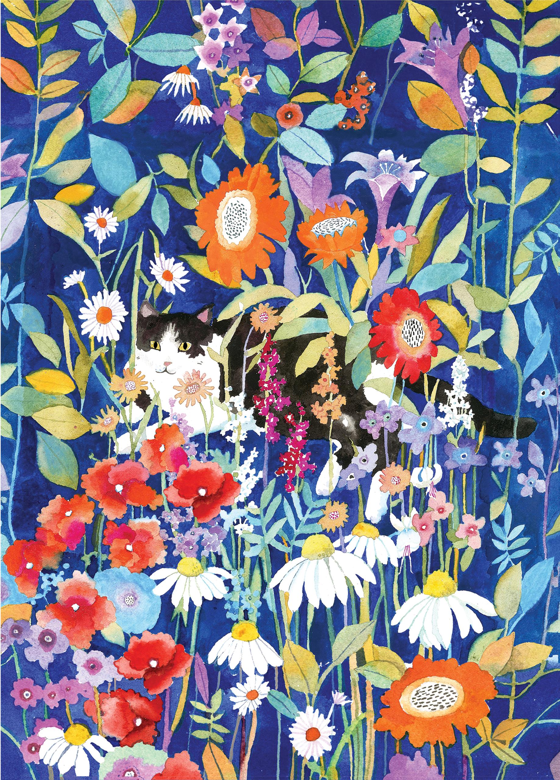 Garden Cat Cats Jigsaw Puzzle