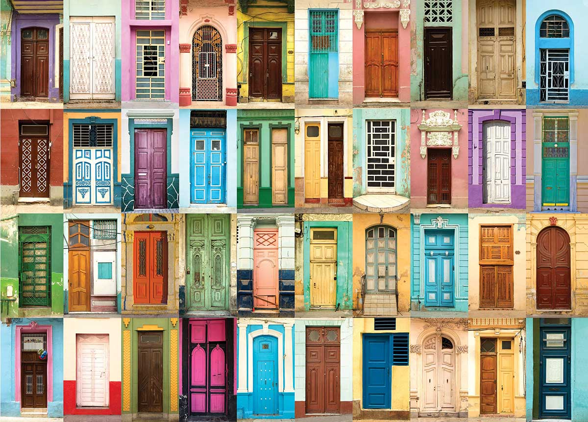 All the Doors Everyday Objects Jigsaw Puzzle