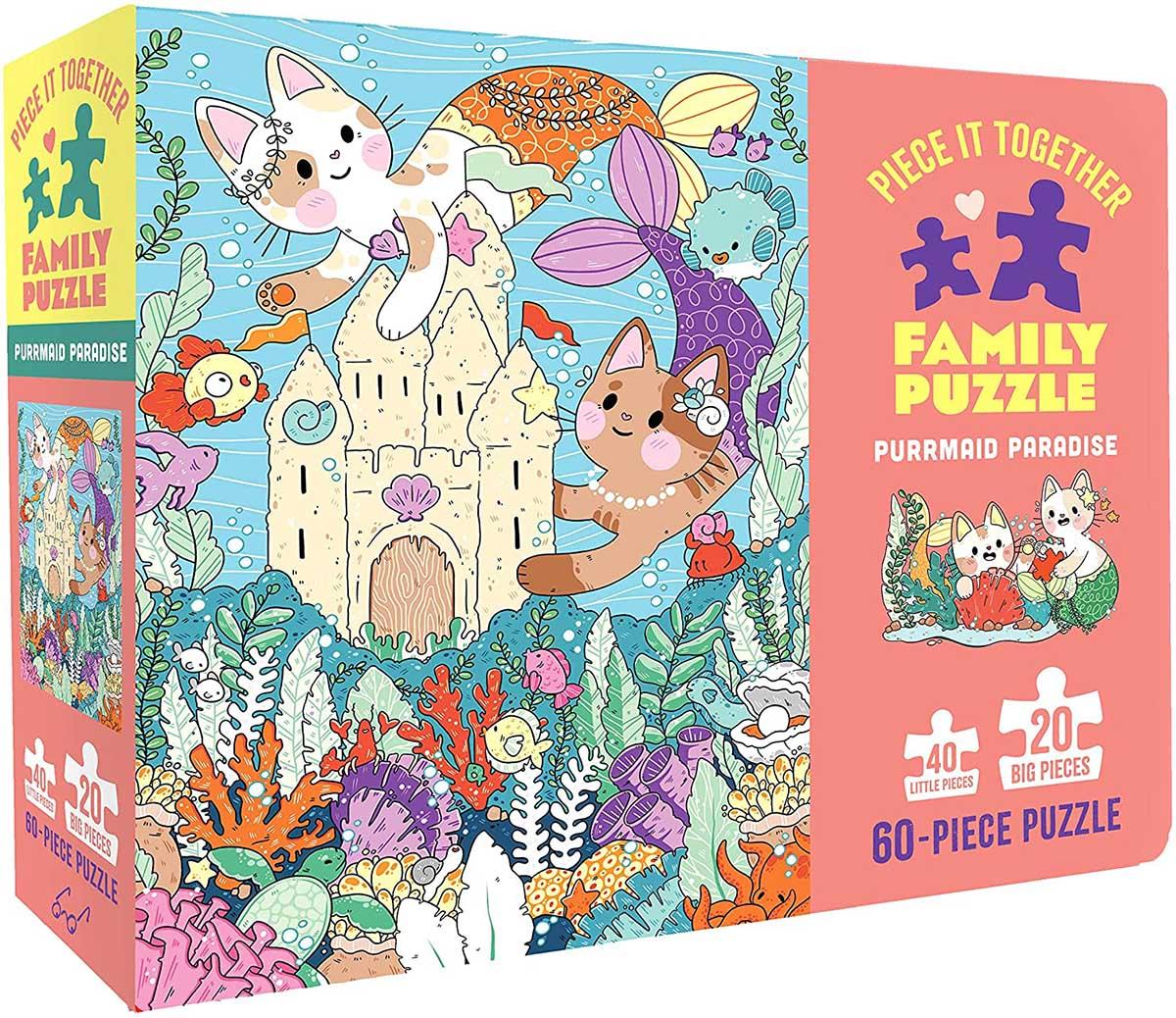 Purrmaid Paradise Cats Jigsaw Puzzle