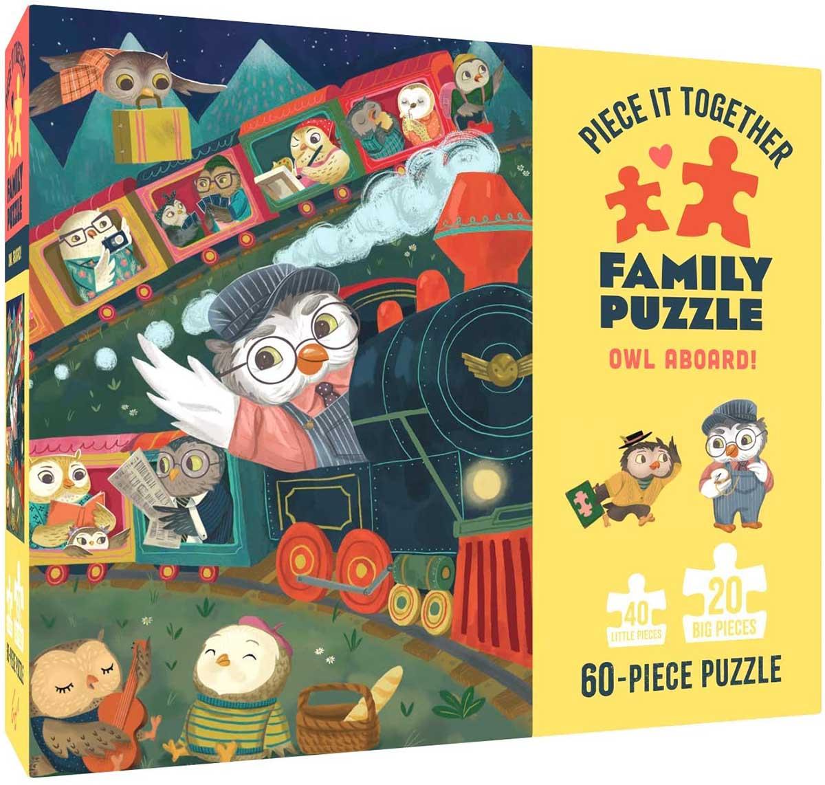 Owl Aboard! Trains Jigsaw Puzzle