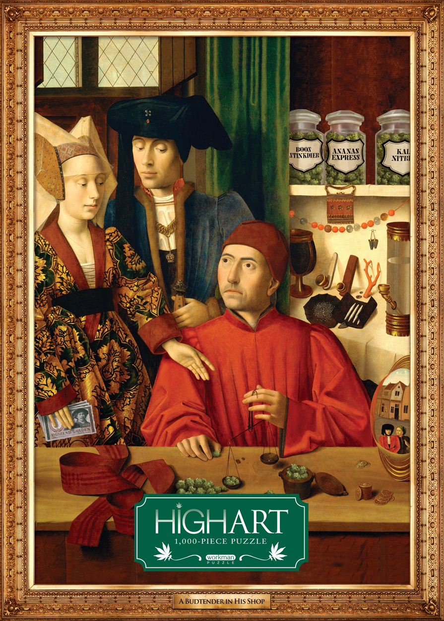 High Art: A Budtender in His Shop History Jigsaw Puzzle