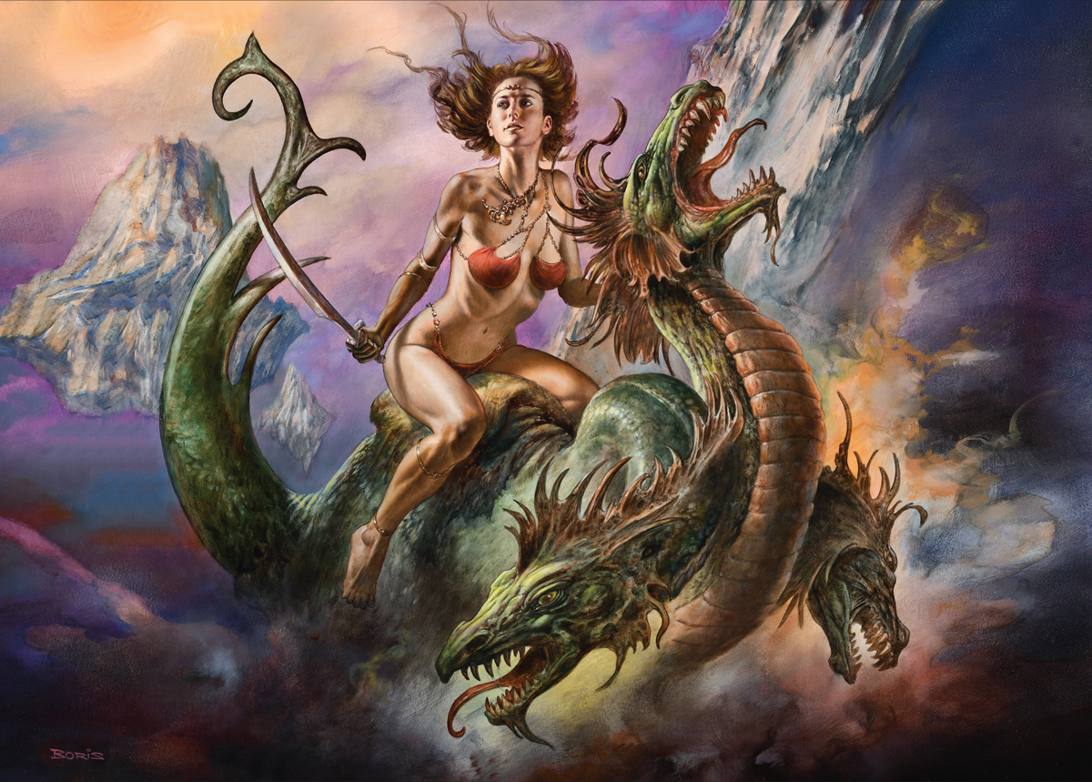 Boris Vallejo & Julie Bell's Fearless Rider Dragons Jigsaw Puzzle