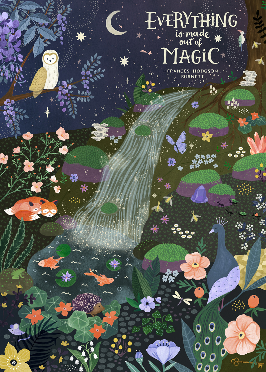 Everything is Made Out of Magic Wildlife Jigsaw Puzzle