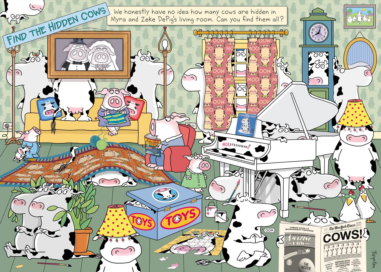 Hidden Cows Animals Jigsaw Puzzle