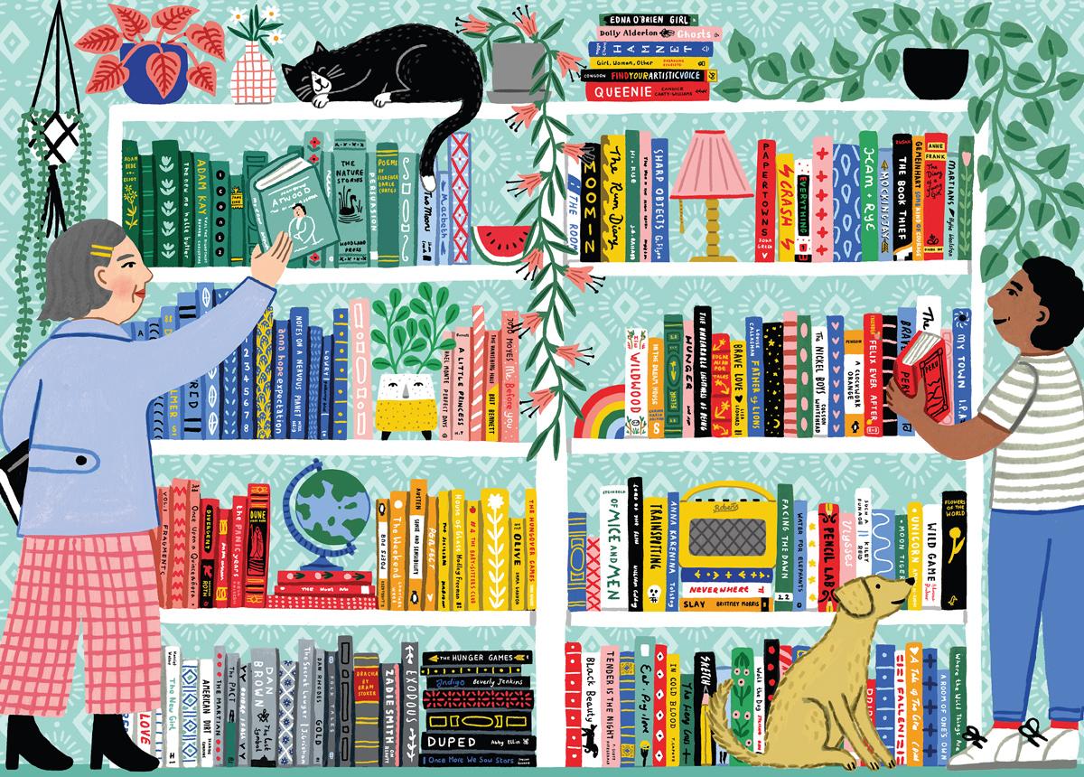 Book Nerd Domestic Scene Jigsaw Puzzle