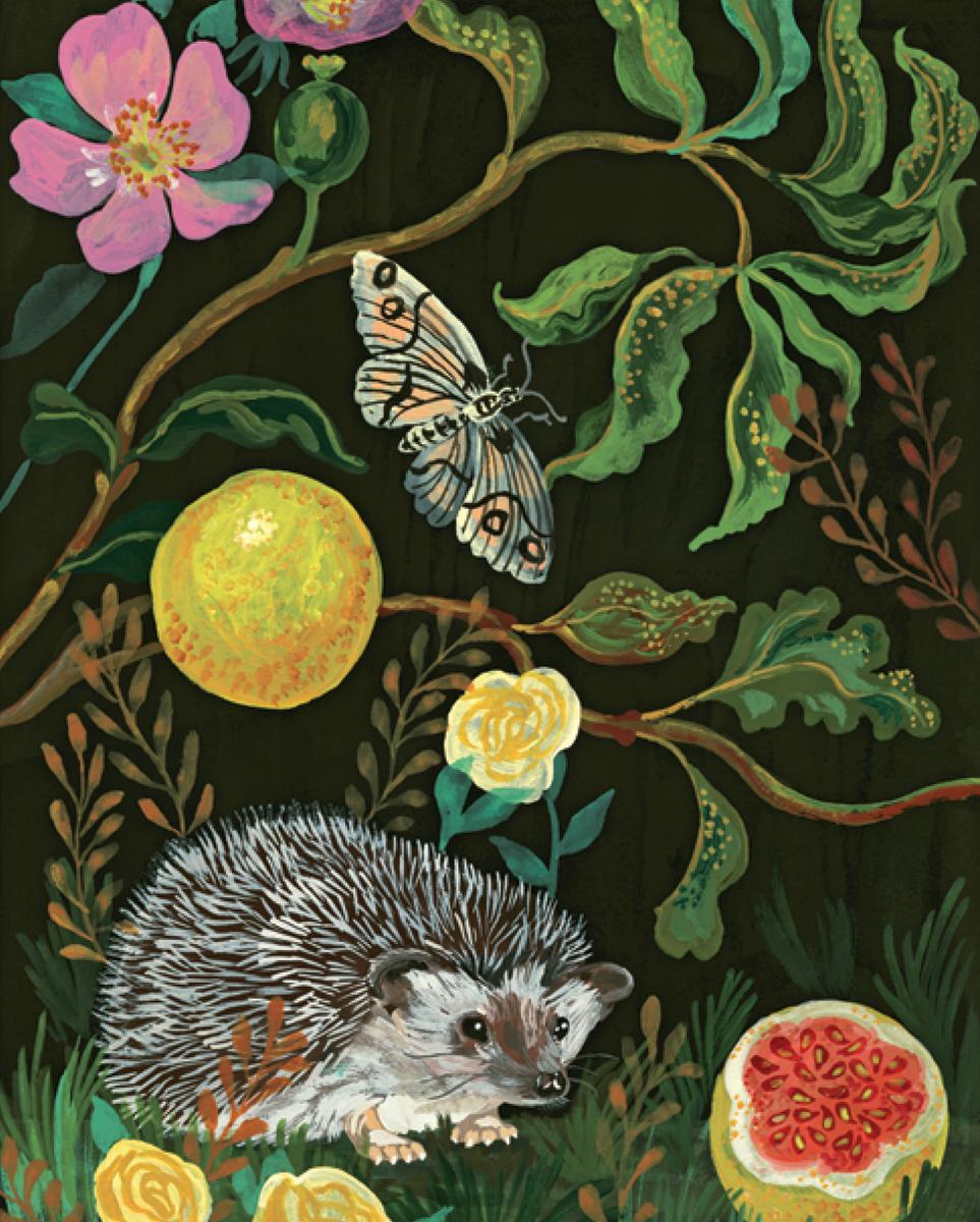 In the Dark Garden Animals Jigsaw Puzzle