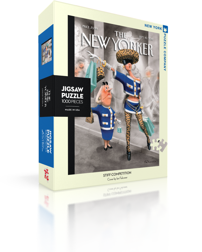 Stiff Competition (The New Yorker) Street Scene Jigsaw Puzzle