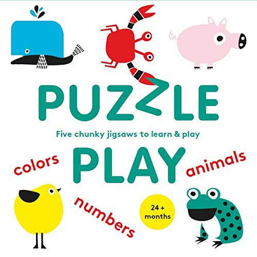 Puzzle Play: Five Chunky Jigsaws to Learn & Play Animals Children's Puzzles