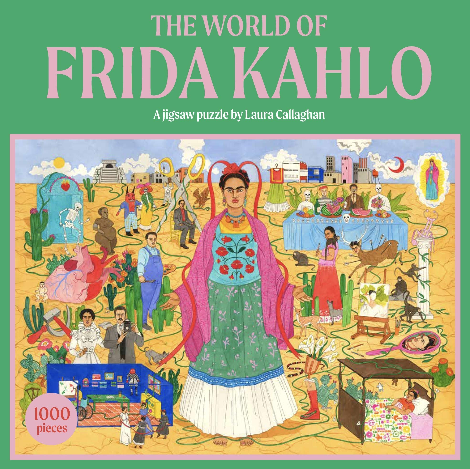 The World of Frida Kahlo Famous People Jigsaw Puzzle