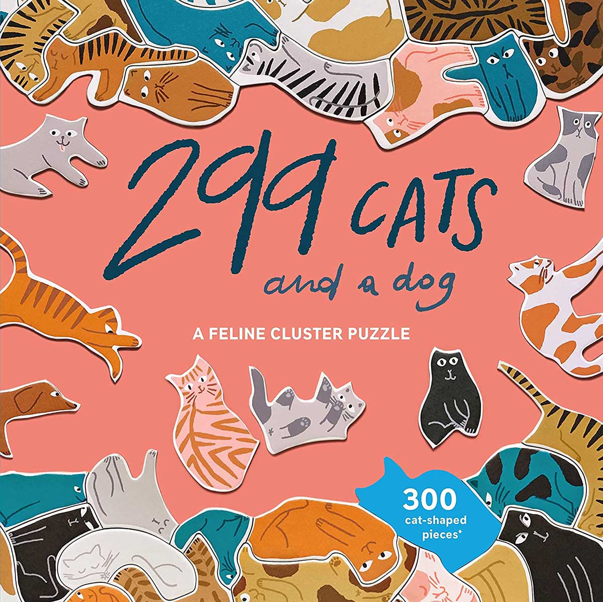 299 Cats (and a dog) Cats Shaped Puzzle