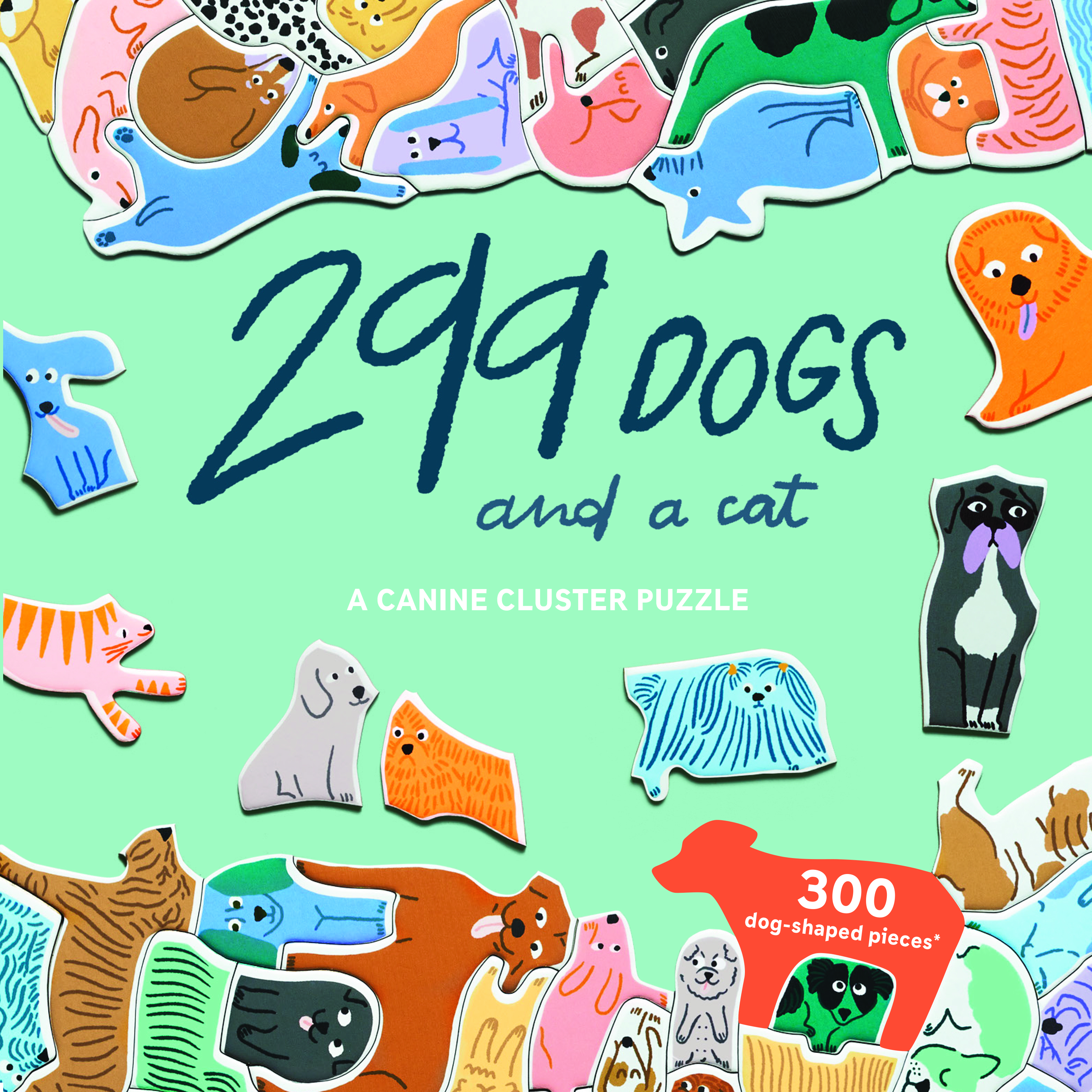 299 Dogs (and a Cat) Cats Jigsaw Puzzle