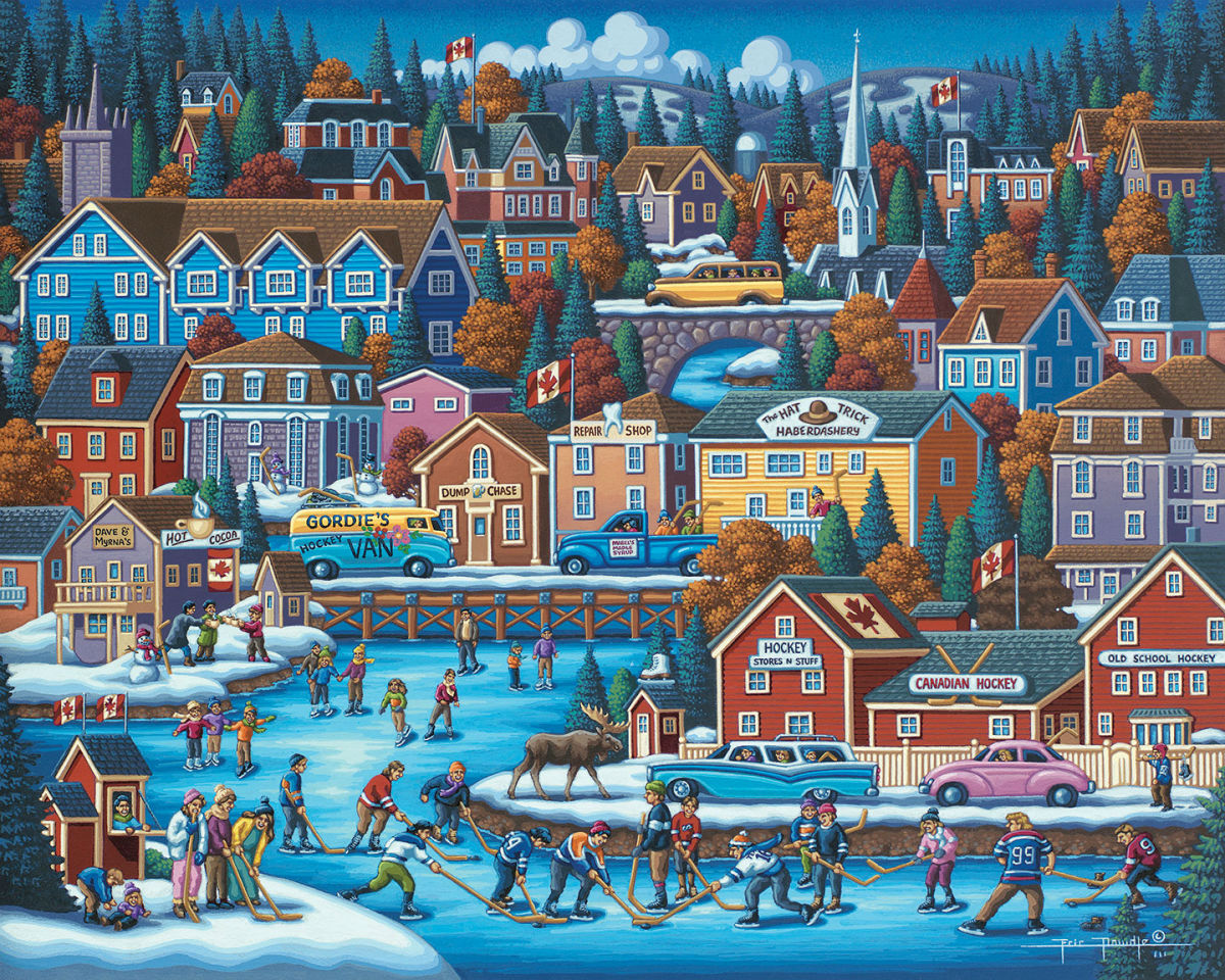 Canadian Hockey Jigsaw Puzzle Puzzlewarehouse Com